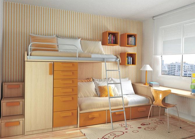 غرف نوم اطفال طابقين 1