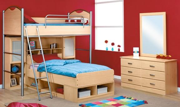 غرف نوم اطفال طابقين 2