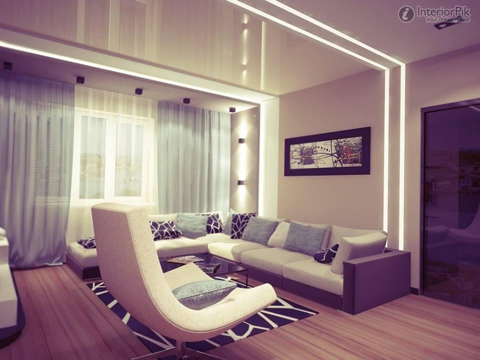 غرف جلوس لون بنفسجي