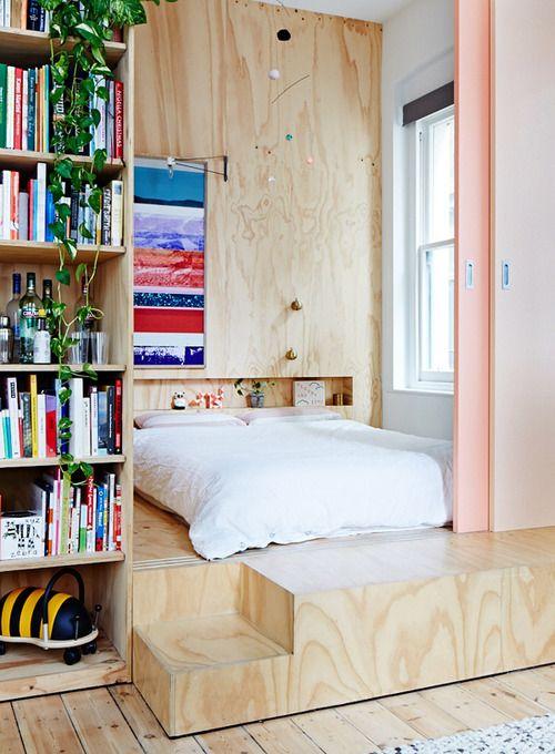 غرف نوم رئيسية للمساحات الضيقة