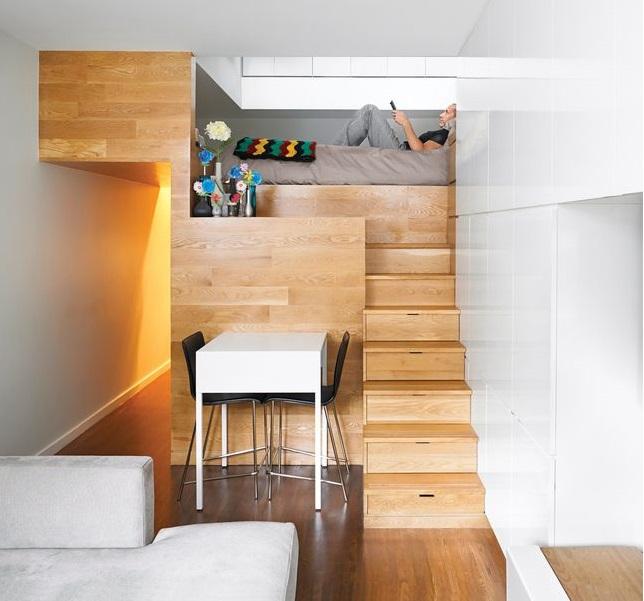 غرفة نوم بطابقين لاستغلال المساحة