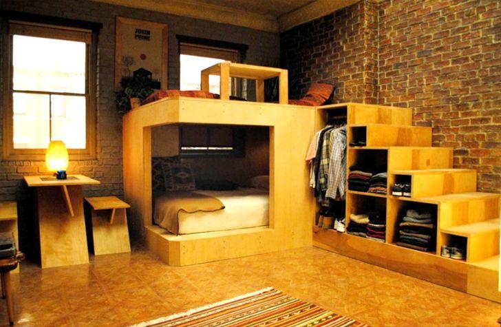 ترتيب مقترح لشقة صغيرة