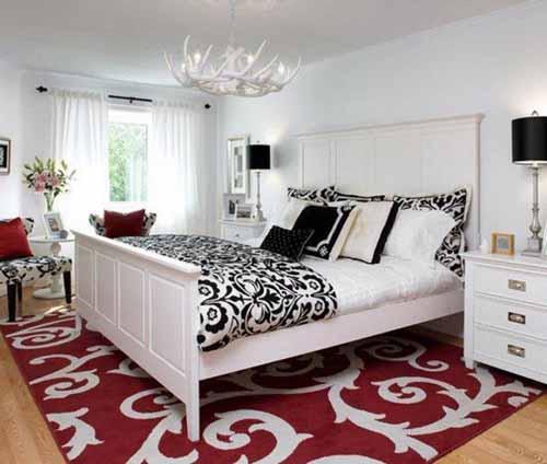 افكار ديكورات غرف نوم بيضاء بالصور