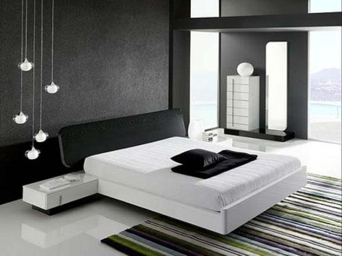 غرف نوم بيضاء مودرن
