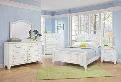 غرف نوم بيضاء حديثة