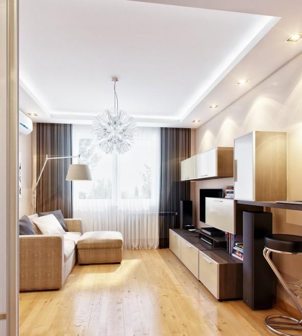 تصاميم غرف المعيشة الصغيرة