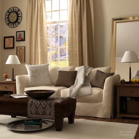 ديكورات غرف المعيشة عصرية