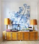 لوحة فنية كبيرة مستخدمة بديكور الغرفة كمثال لفن Oversized Art