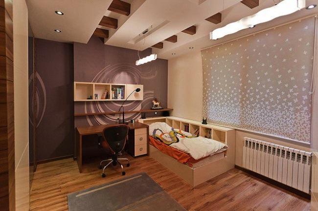 غرف نوم اطفال للمساحات الضيقة
