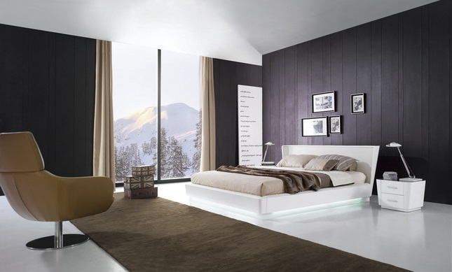 غرف نوم إيطالية بيضاء