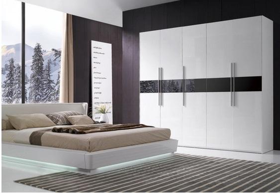 3 غرف نوم بيضاء حديثة