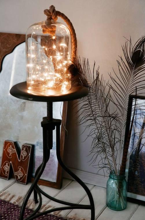 مصباح مضيء بطريقة جميلة ومبتكرة