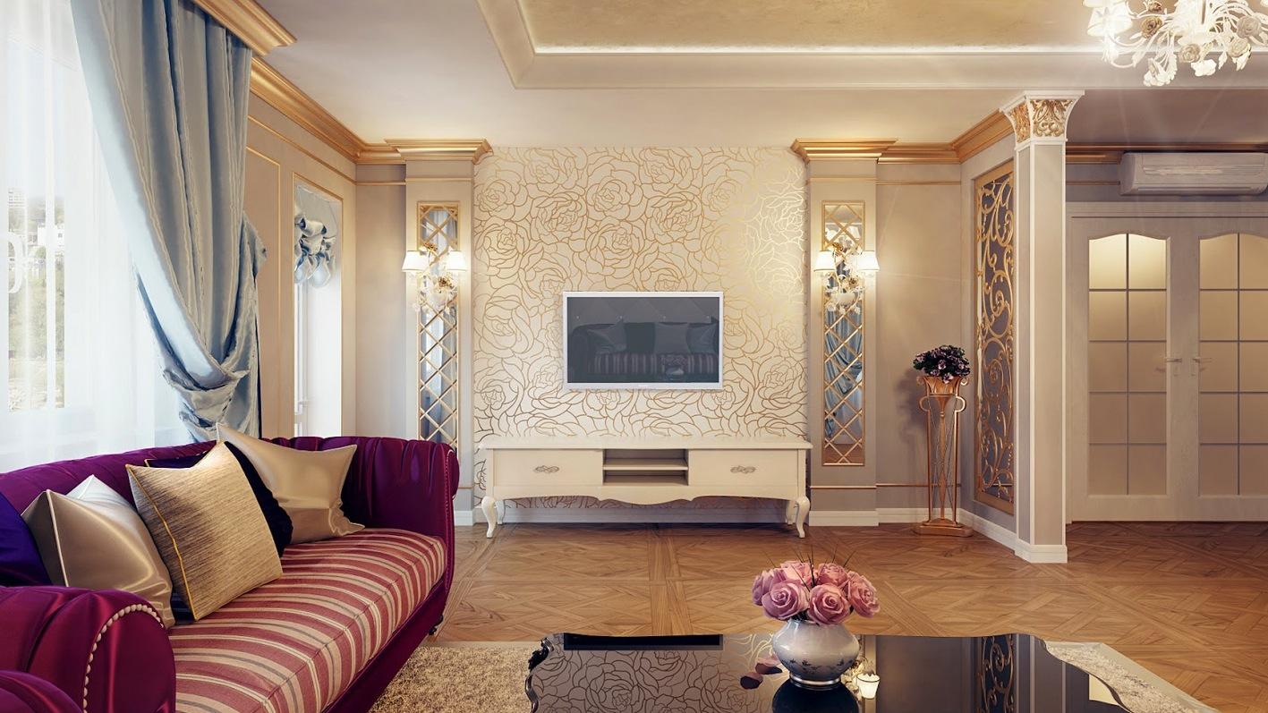 ديكورات غرف معيشة كلاسيك