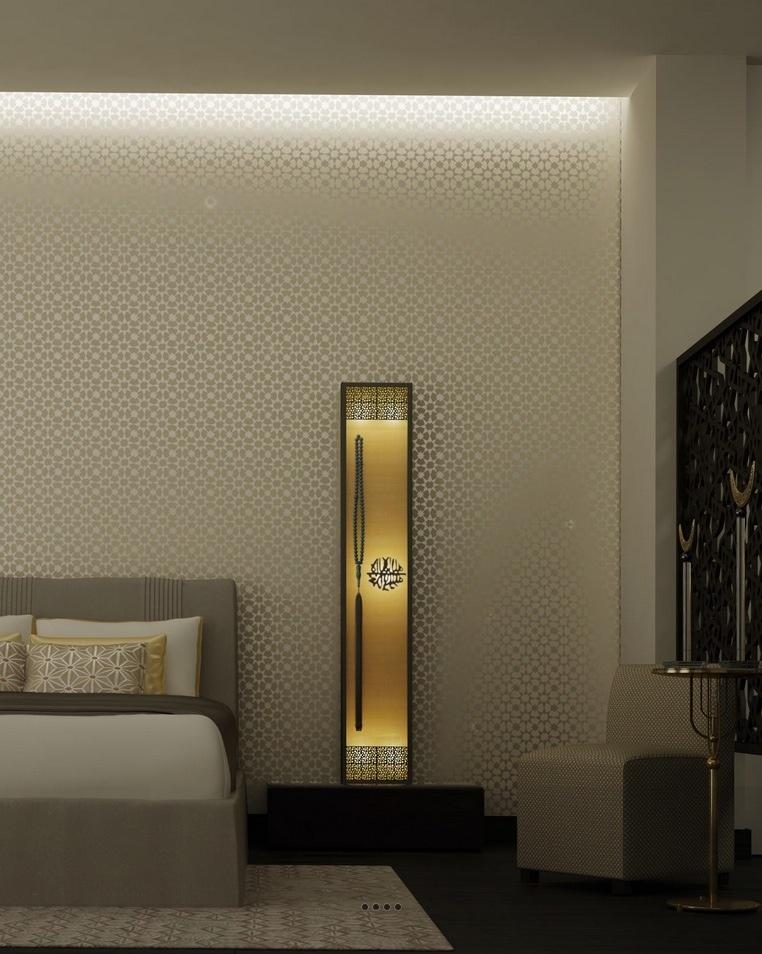 غرف نوم بديكورات عربية