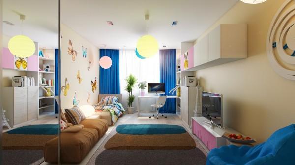 ديكورات الاضاءة لغرف نوم الاطفال