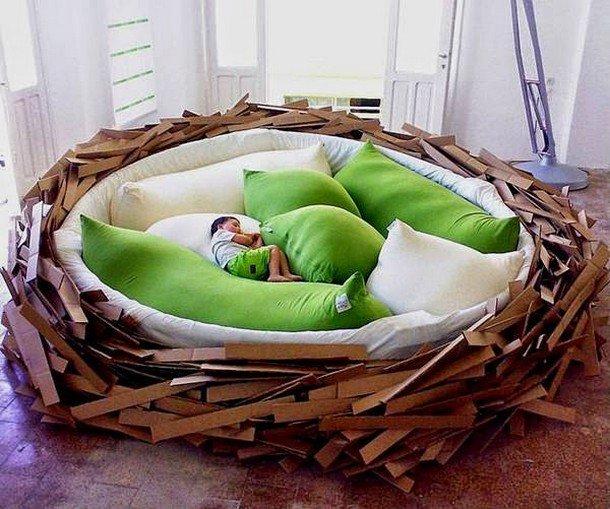 سرير اطفال خشب مودرن