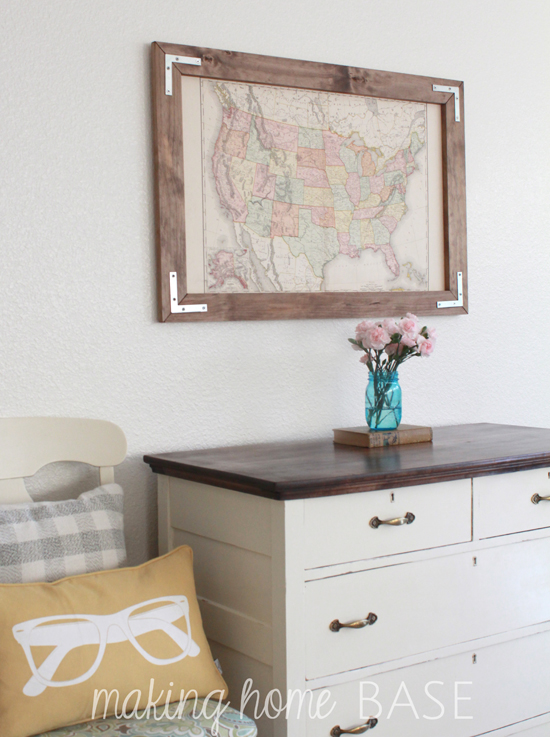 DIY-Rustic-Framed-Map