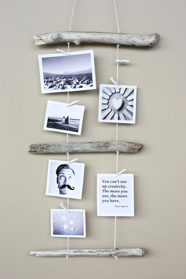 تعليق الصور على حائط الغرفة بطريقة إبداعية