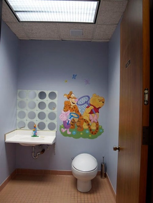 ديكورات حمامات اطفال