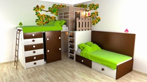 تصميم غرف نوم اطفال