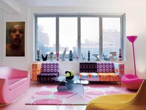 غرف معيشه ملونه