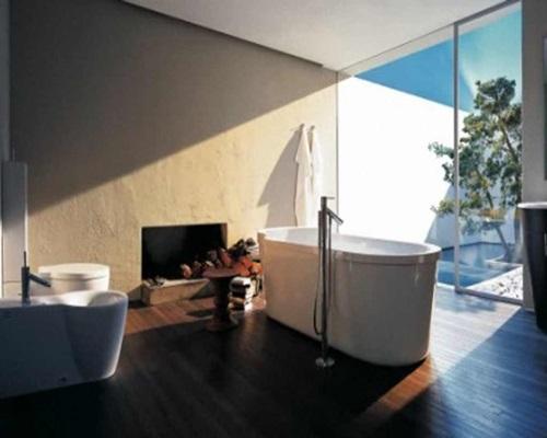 ديكور حمام مع شباك