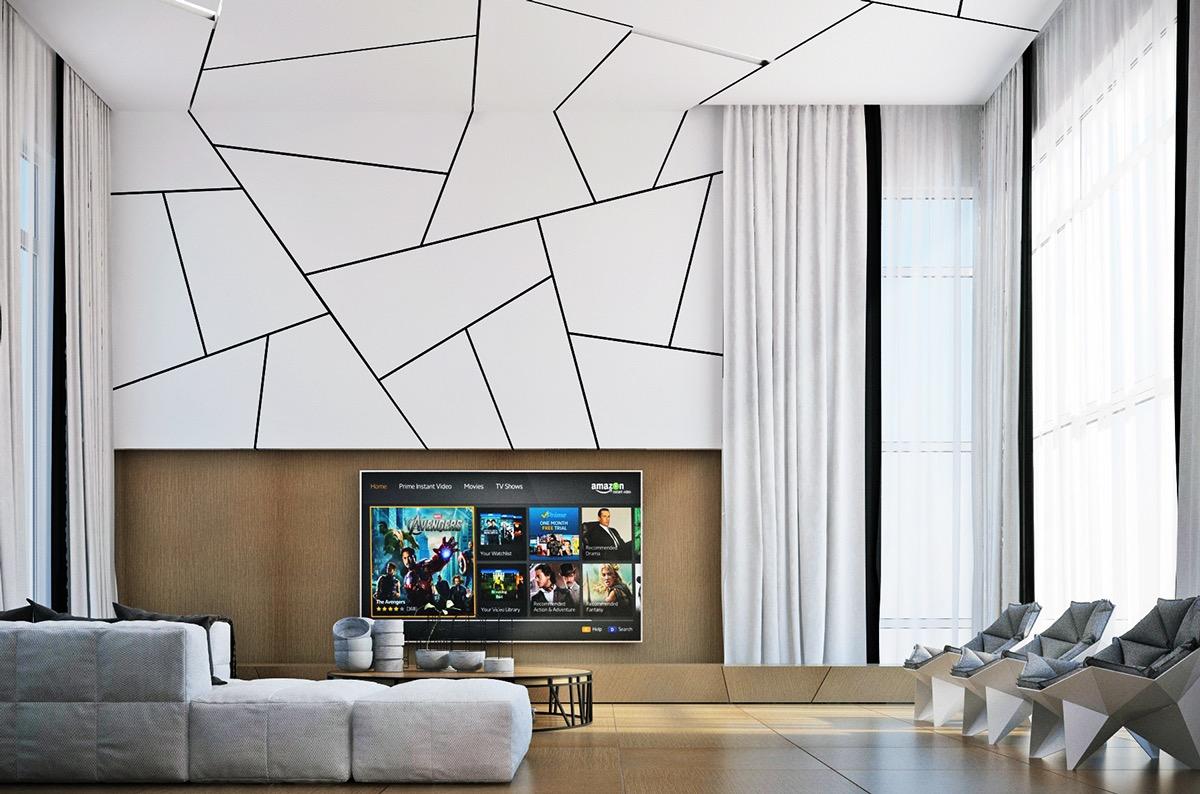 حوائط غرف معيشة