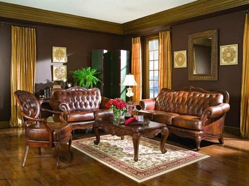 غرف معيشة تقليدية فرنسية