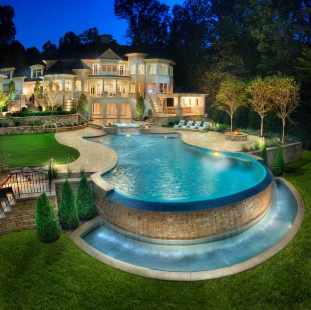 اجمل تصاميم احواض السباحة 28