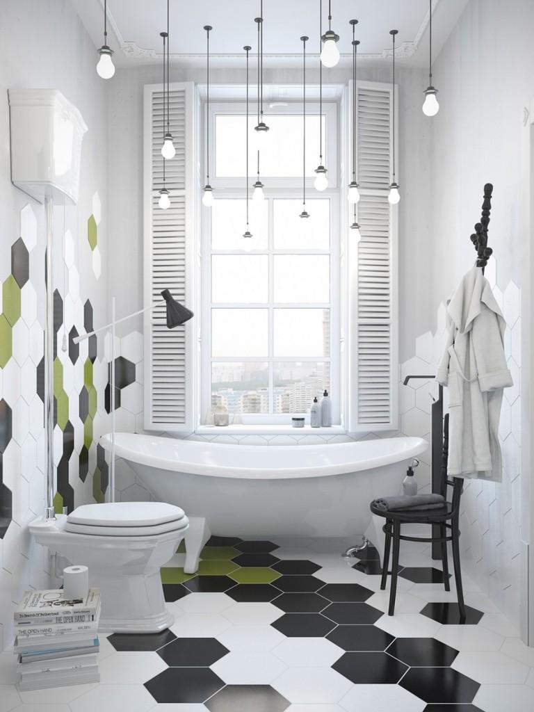اضاءة مودرن لحمام منزلك