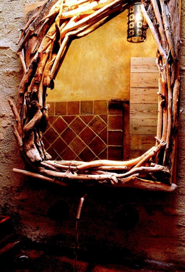 تصميم خشبي لمرايات الحمامات