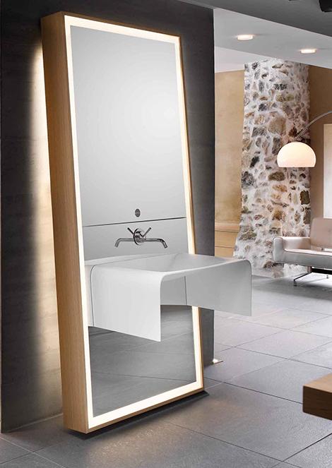 تصميم مرايا حمامات طويلة