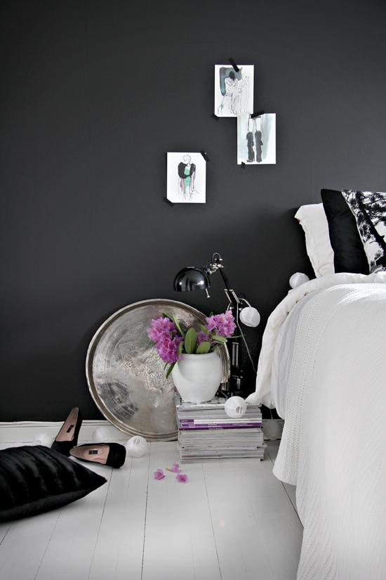 حوائط سوداء لغرف النوم 3