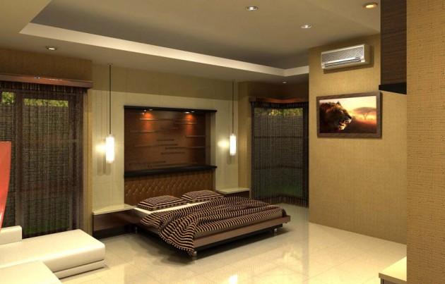 تصاميم اضاءات لغرفة النوم