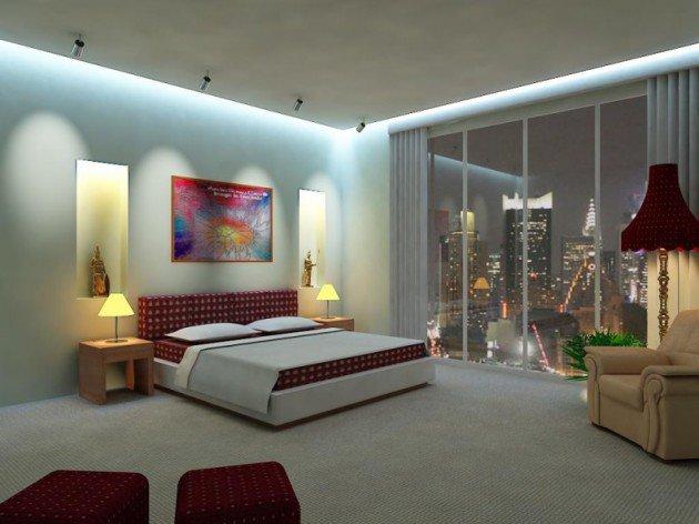 تصميم اضاءة لغرفة نومك