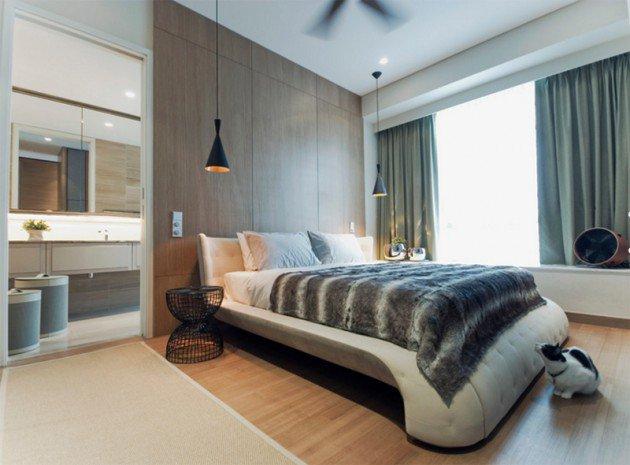 تصميم اضاءة معلقة لغرفة نومك