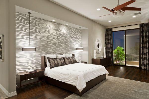 فكرة جميلة وحديثة لإضاءة غرفة النوم