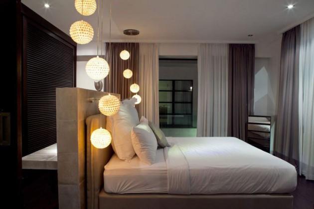 مجموعة من المصابيح المعلقة لإضاءة غرفة نومك