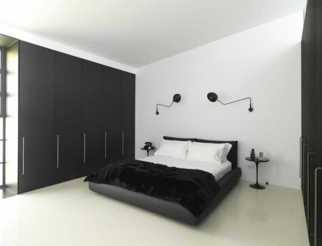 تصميم جميل وأنيق لإضاءة غرفة النوم