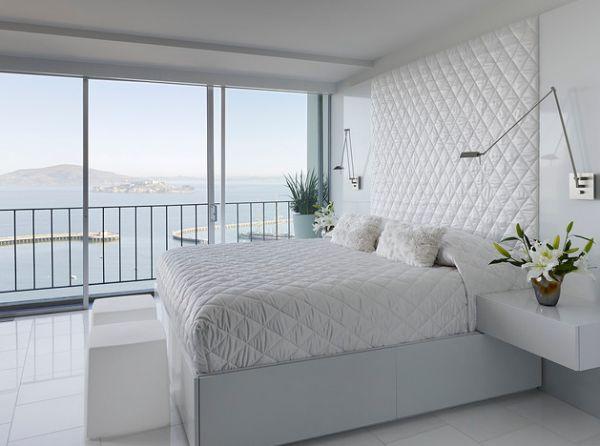غرفة نوم مبتكرة وتصميم مبتكر للإضاءة الجميلة
