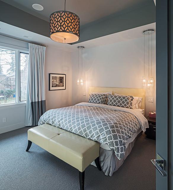 الاضاءة في غرف النوم باستخدام مصابيح معلقة لإضاءة أفضل   عرب ديكور
