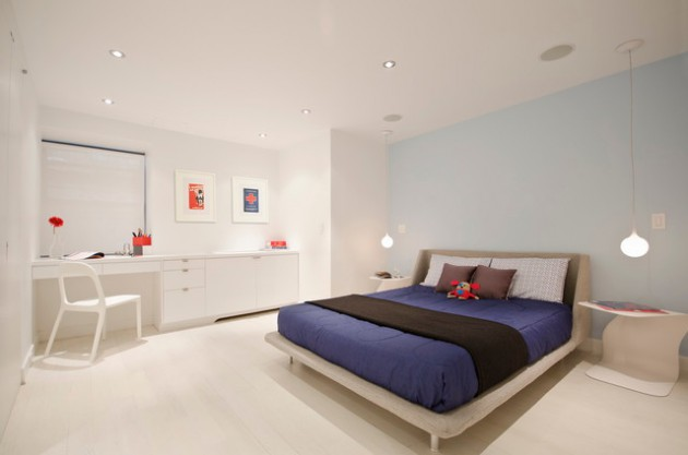 تصميم انيق ومودرن للمصابح المحلقة المستخدم في غرف النوم