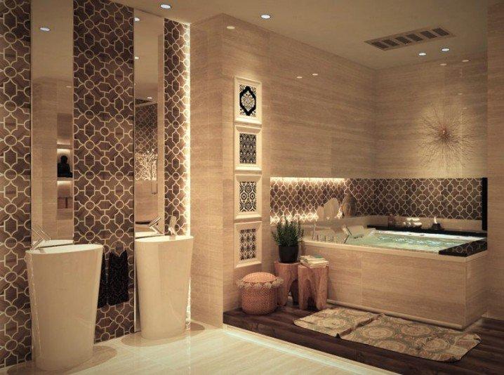 ديكورات حمامات فخمه