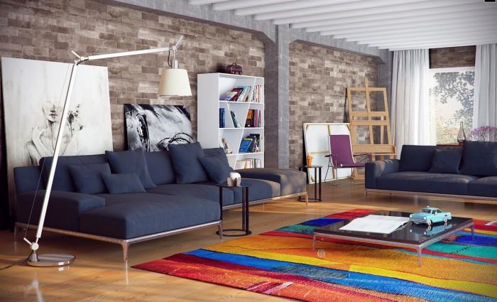 احدث تصاميم السجاد الملون المستخدم في غرفة الجلوس