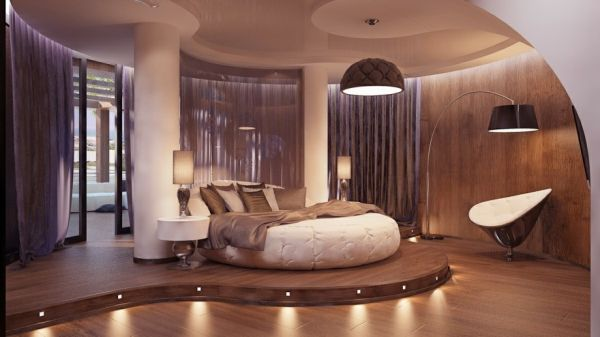 احدث غرف النوم مع سرير بشكل دائري