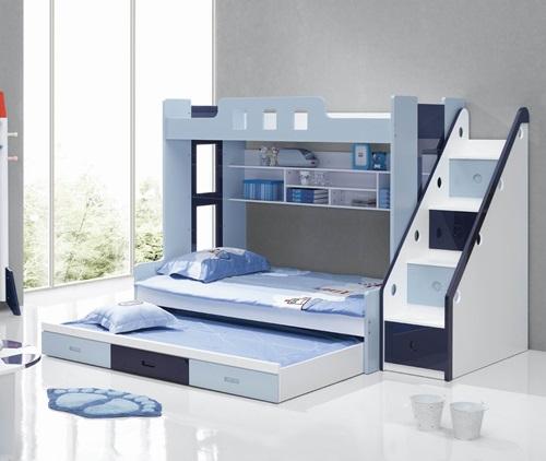 افكار لغرف نوم الاطفال الضيقة بطابقين