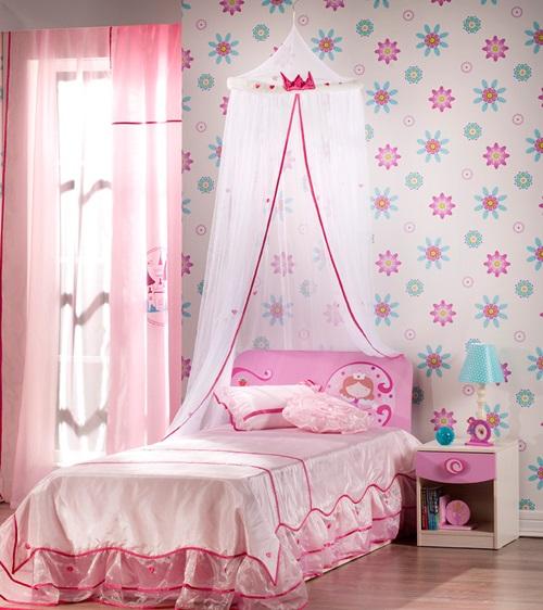 افكار لغرف نوم الاطفال لأميرتك الصغيرة