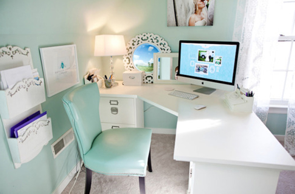 تصاميم حديثة لمكتب منزلي انيق