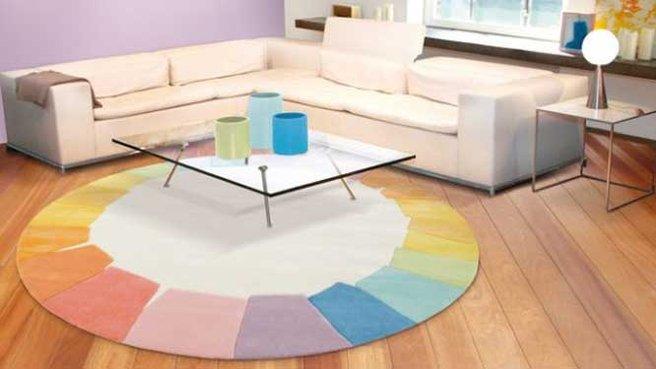 تصاميم سجاد ملون لغرف الجلوس