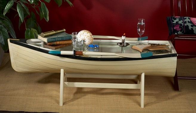 تصاميم طاولات وسط على شكل مركب صيد